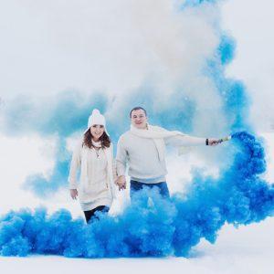 Денис и Александра. Цветной дым.