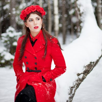 Red Rose Crown. Портретная фотосессия.